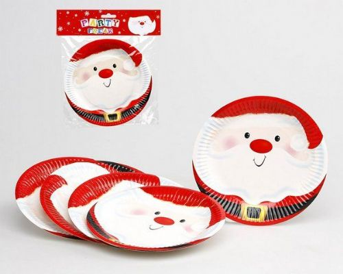 Christmas Party Plates Xmas Festive Seasonal Nativity